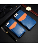 KISSCASE Blue Vertical Flip Card Holder Leather Case